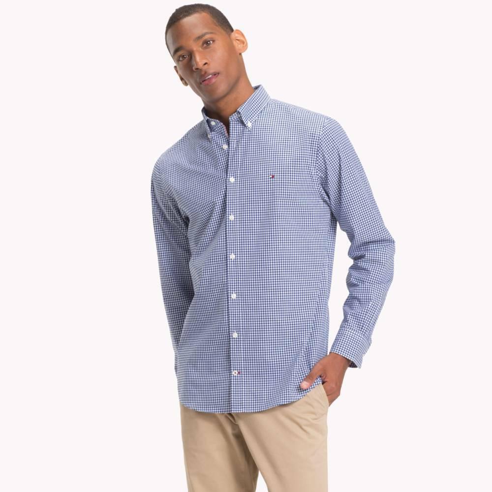 e748d5894a5b Tommy Hilfiger pánská modrá kostkovaná košile Classic - L (902)