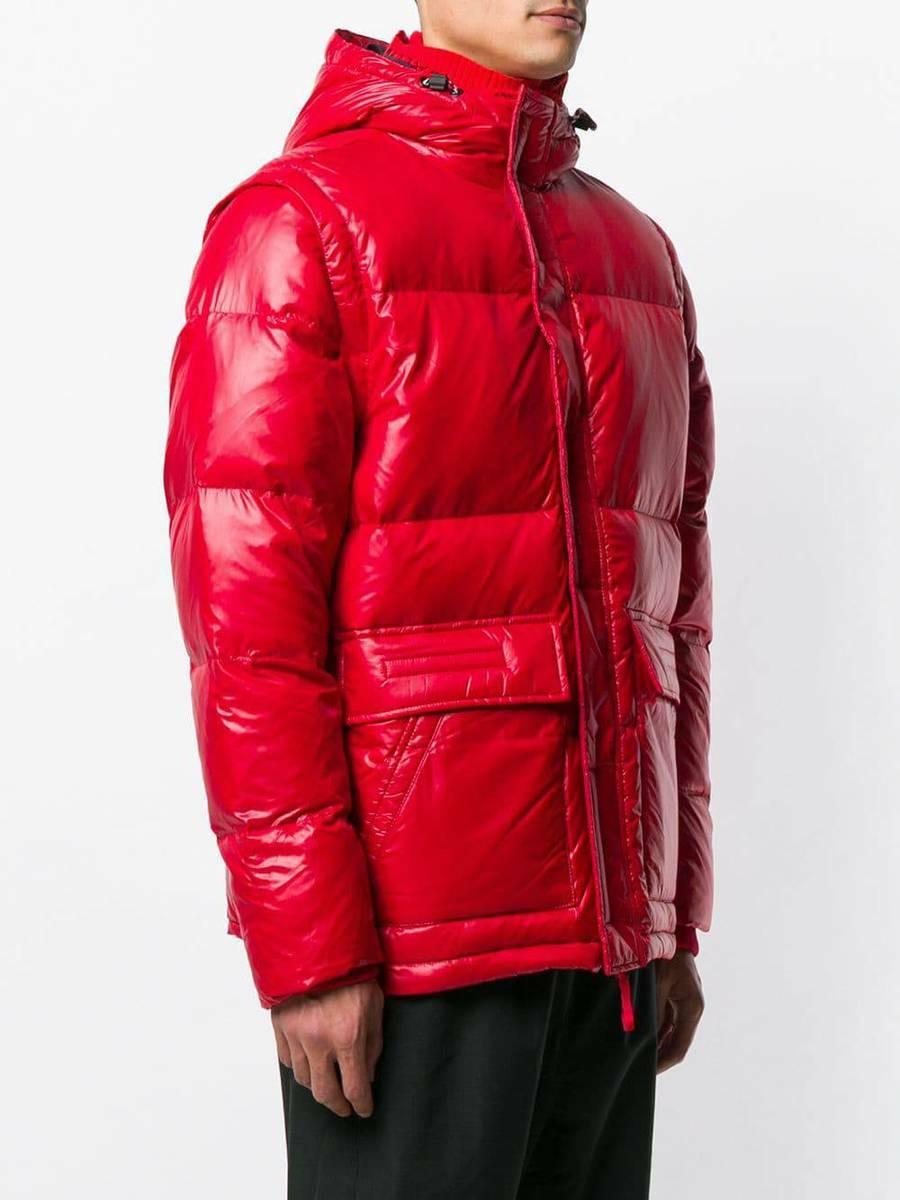 Tommy Hilfiger pánská červená lesklá bunda