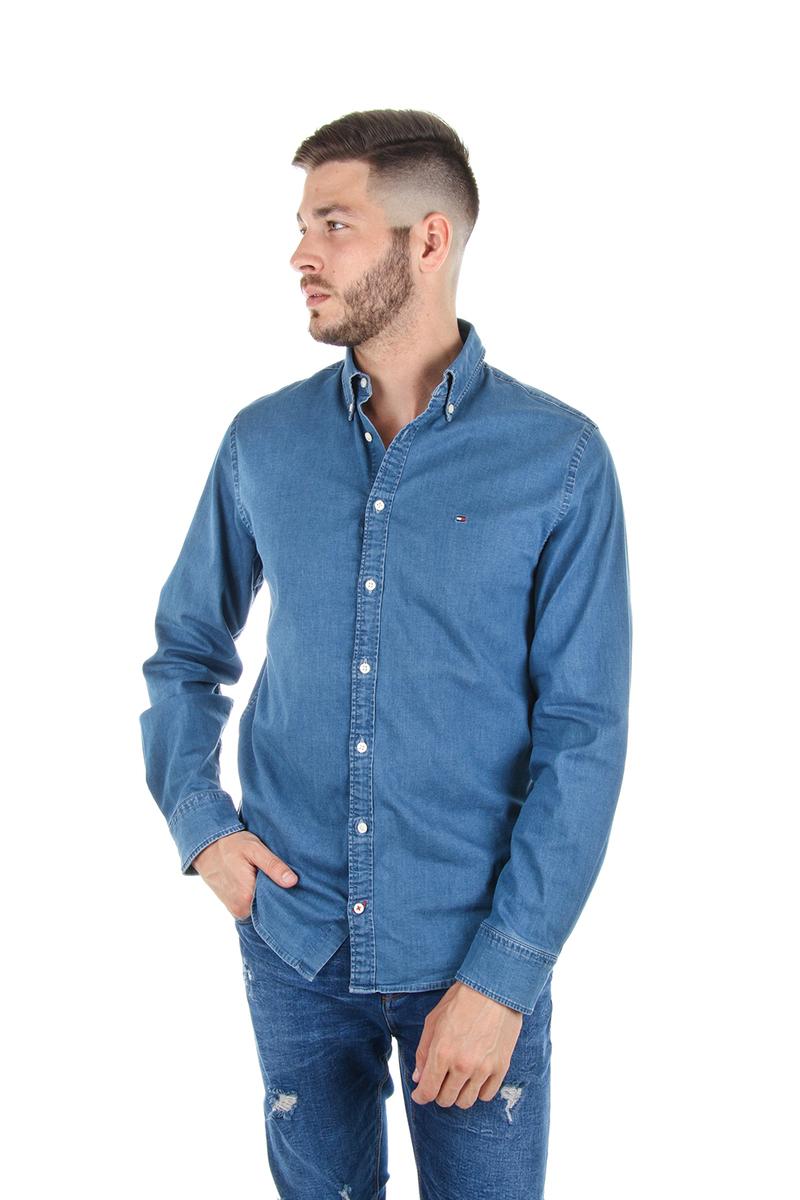 Tommy Hilfiger pánská džínová košile Stretch - L (984)