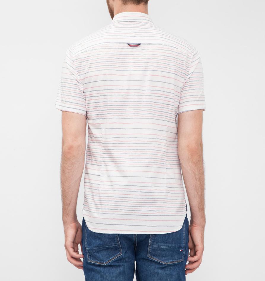 Tommy Hilfiger pánská pruhovaná košile Print stretch - Mode.cz 255f2e9eaa