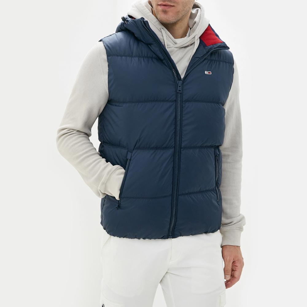 Tommy Hilfiger pánská tmavě modrá zateplená vesta Gilet - L (CBK)
