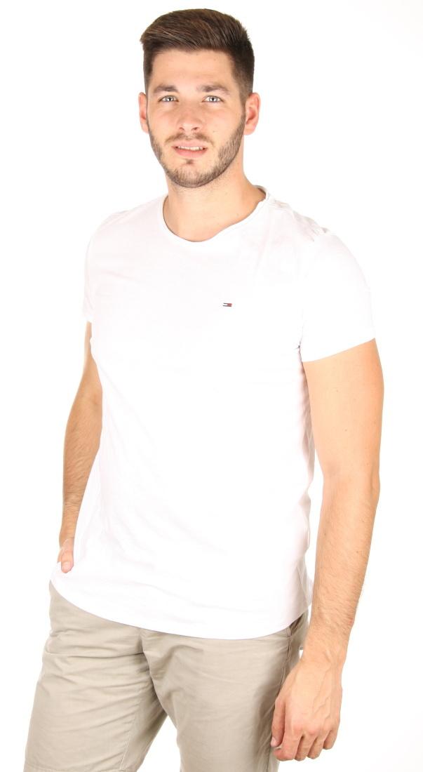 e8001aef0e Tommy Hilfiger pánské bílé tričko Basic