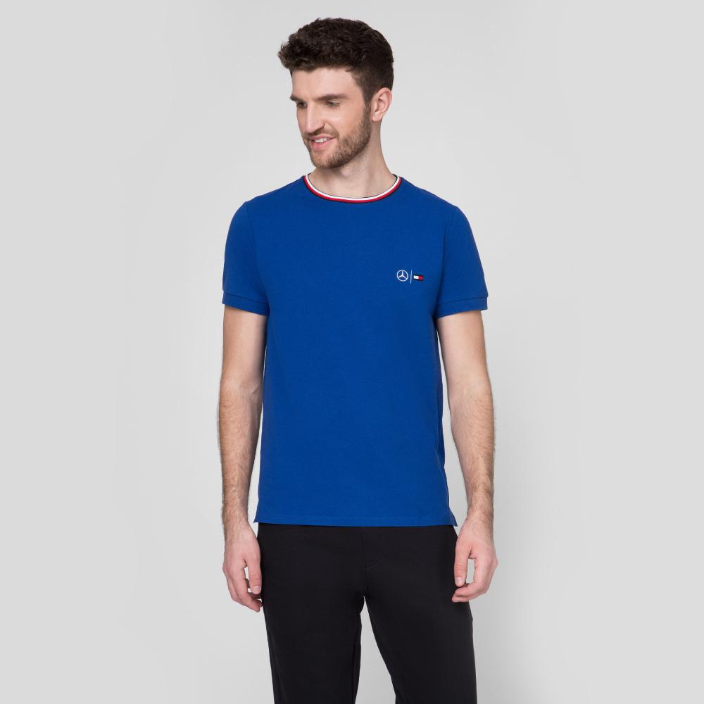 Levně Tommy Hilfiger pánské modré tričko Control - L (CJS)