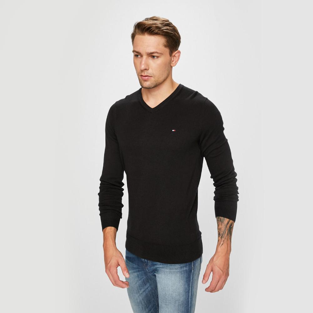 Levně Tommy Hilfiger pánský černý svetr - L (032)