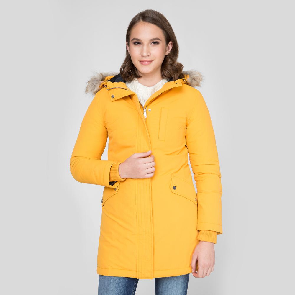 Levně Tommy Jeans dámská hořčicově žlutá zimní parka