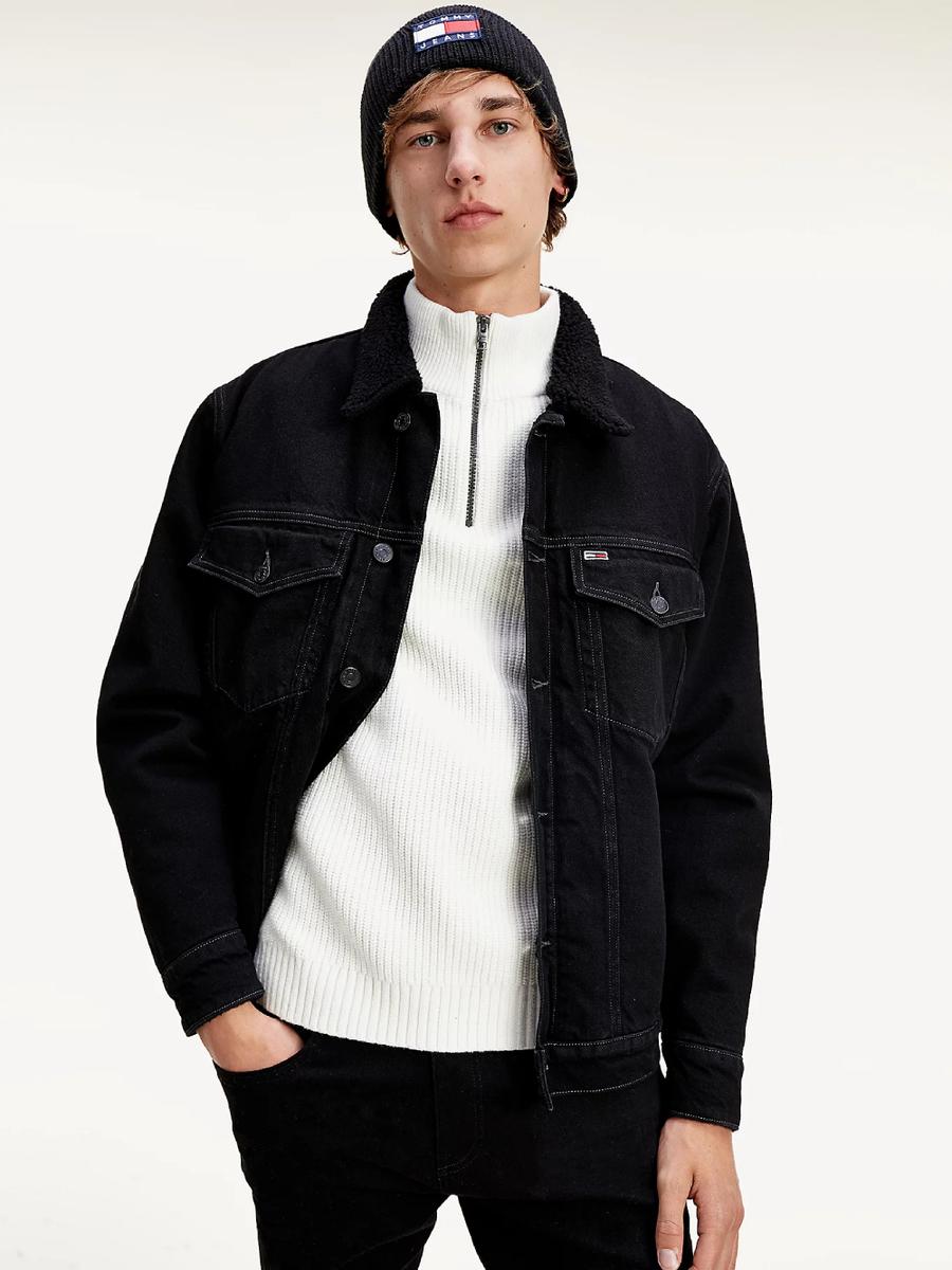 Tommy Jeans pánská černá džínová bunda