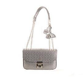 Guess dámská kovově šedá kabelka se vzorem bb160174b1