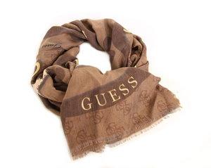 Guess dámský hnědý šátek se vzorem 5c0fb681ac