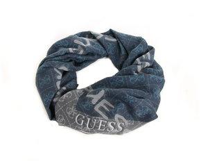 Guess pánský modro - šedý šátek se vzorem ef50668aef
