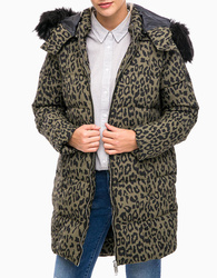 Pepe Jeans dámská péřová bunda s leopardím vzorem adcba1dfb0