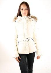 81062fe1b49 Pepe Jeans dámská smetanová péřová bunda
