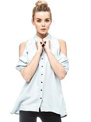 46af68af09c Guess dámská světle modrá košile