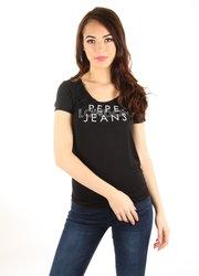 5748f9de2a4 Pepe Jeans dámské černé tričko Brent