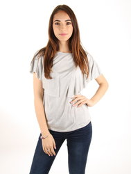 Pepe Jeans dámské šedé tričko s volánem 65c386104eb