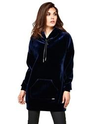 Guess dámské sametové šaty Hoodie 700b0eaeab7