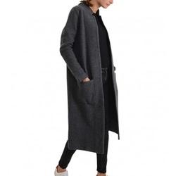 71779f8d4c3 Tommy Hilfiger dámský tmavě šedý kabát