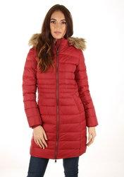 Tommy Hilfiger dámský vínový péřový kabát Essential 9837f5556aa
