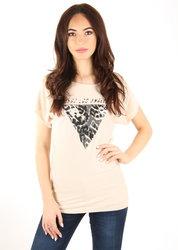 Guess dámský béžový svetr s krátkým rukávem 4450905c61