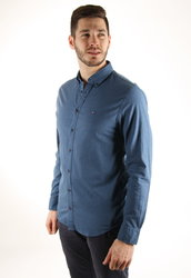 38f43847711 Tommy Hilfiger pánská modrá košile Dot