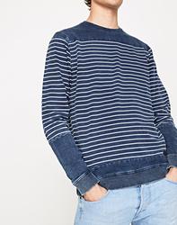 Pepe Jeans pánská modrá pruhovaná mikina 088e6fcf49