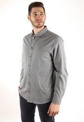 9517cba9d83 Tommy Hilfiger pánská šedá košile Dot