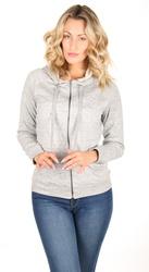 Pepe Jeans dámská šedá mikina Lexi na zip s kapucí 659cb7ab2a