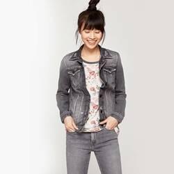 34120032c8f8 Pepe Jeans dámská šedá džínová bunda Trift