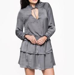 Pepe Jeans dámské šedé šaty Carol 9648dd841a4