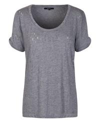 c22a626236 Pepe Jeans dámské šedé děrované tričko Selma