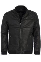 Pepe Jeans pánská černá kožená bunda Malta 9858c8f3b4