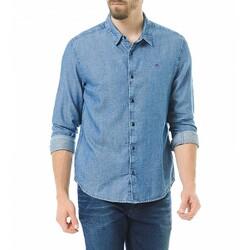 c2244995d21 Tommy Hilfiger pánská džínová modrá košile Slim - KAZOVÉ