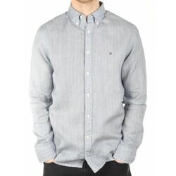 e83e90e5244 Tommy Hilfiger pánská modro-šedá košile Tylor