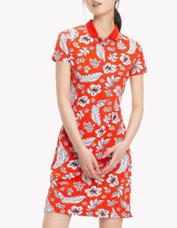 046222ac9f Tommy Hilfiger dámské červené polo šaty se vzorem