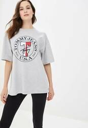 af7c03f209 Tommy Hilfiger dámské šedé tričko Boyfriend