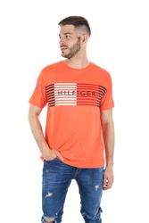 f92284906e Tommy Hilfiger pánské oranžové tričko Global