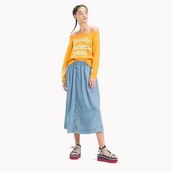 fcfc298b740 Tommy Hilfiger dámská světle modrá sukně