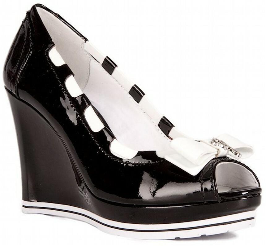 Guess dámské černé boty na klínku - KAZOVÉ